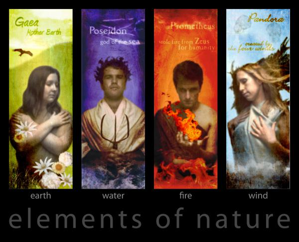 Earth, Water, Fire,  Elements of Nature