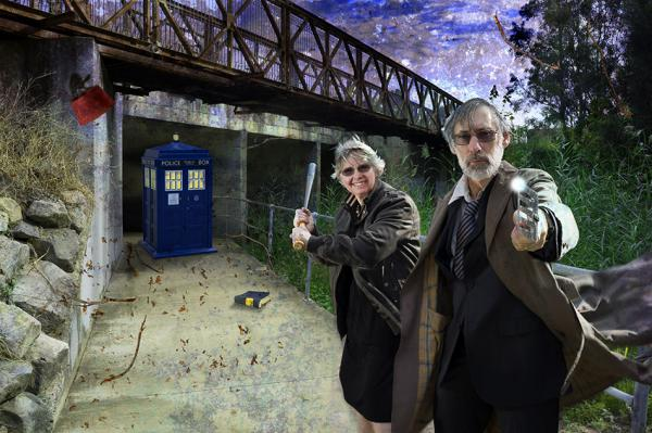 Who's the Doctor? Fantasy scene based on Dr Who